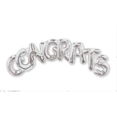 Balloon Bouquet Congrats - Silver (14 inch)