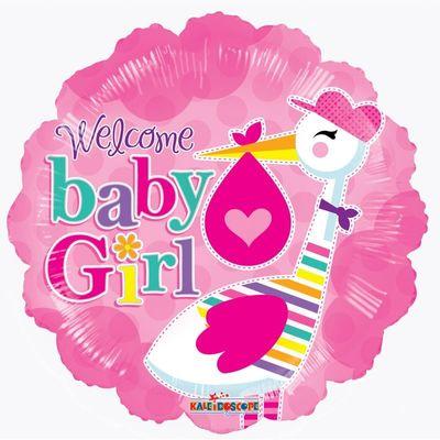 "9"" Baby - Baby Girl Stork"