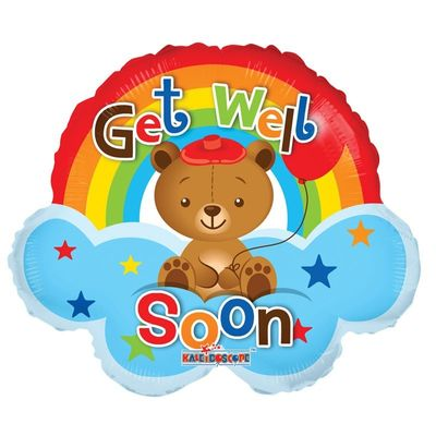 "14"" Get Well - Rainbow Mini Shape (Air filled)"