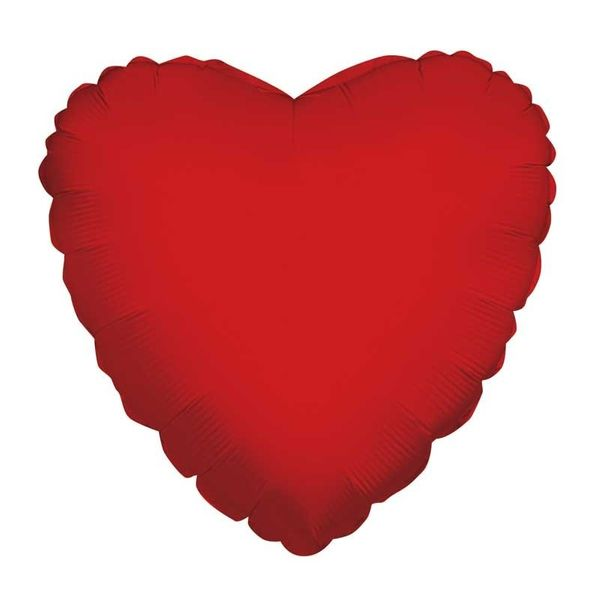"""36"""" Packaged Plain Red Heart"""