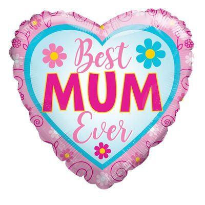 """18"""" Best Mum Ever Balloon"""