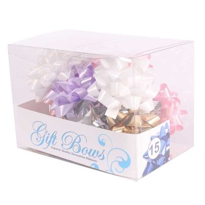 Pale Pink / White / Lilac / Gold / Silver Galaxy Bows (x15)