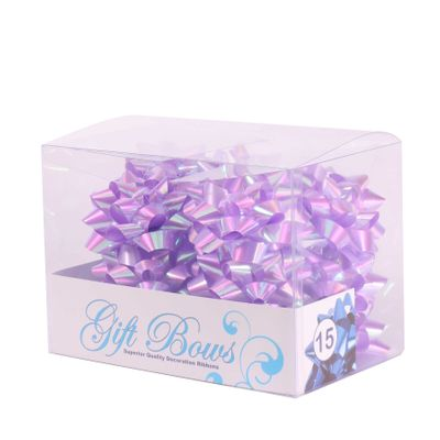 Iridescent Lilac Galaxy Bows (x15)