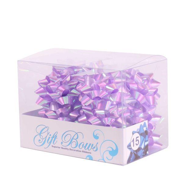 Iridescent Lilac Galaxy Bows (x15)