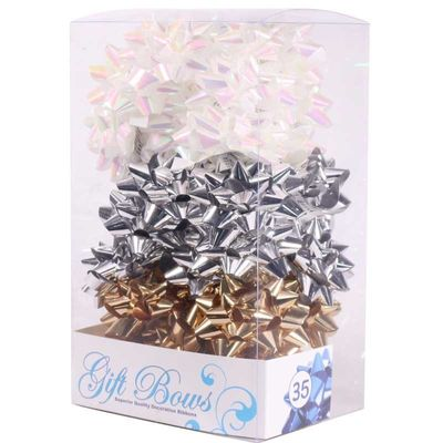 Metallic Gold / Silver / White Galaxy Bows (x35)