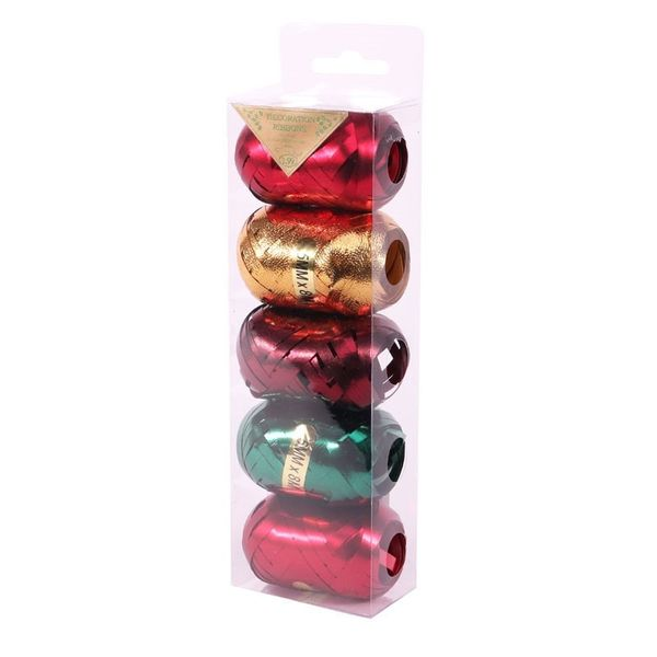 Ribbon Cops Red / Green / Burgundy / Gold in acetate (x5)