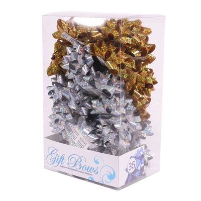 Holographic Gold / Silver Galaxy Bows (x35)