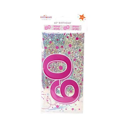Female 60th Birthday Banner (pack of 6) Retail Pack (1/48)