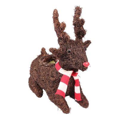 27cm Salim Lying Reindeer Planter (16)