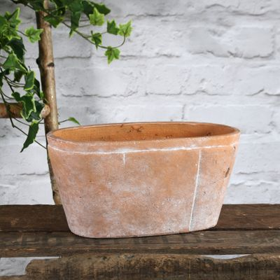 Rustic Ceramic Trough 28x14cm (1/6)