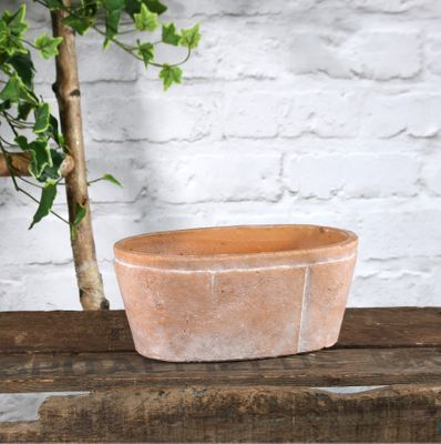Rustic Ceramic Trough 23.5x10cm (1/12)