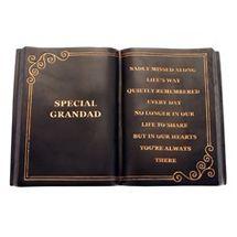 Black Special Grandad Memorial Plaque