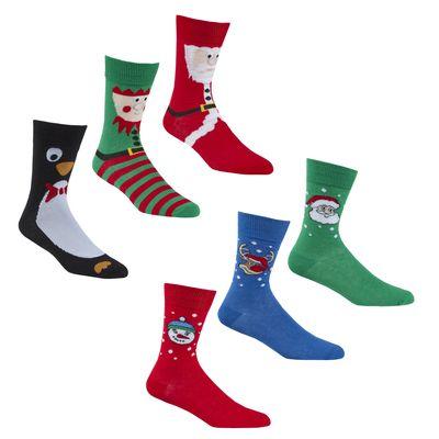 Mens 3 Pack Christmas Design Socks