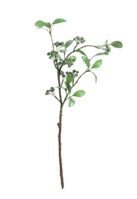 Lingonberry Spray w/9 Cluster Berries Green (63cm)