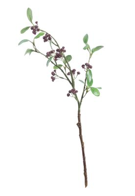 Lingonberry Spray w/9 Cluster Berries Burgundy (63cm)
