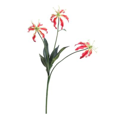Gloriosa Spray w/3 Flowers Red (50cm)