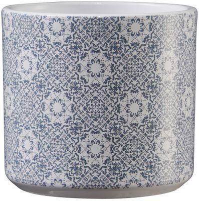 Livorno Ceramic Pot 8cm mosaic blue-gray