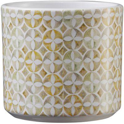 Livorno Ceramic Pot 8cm mosaic amber