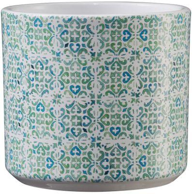Livorno Ceramic Pot 8cm mosaic green