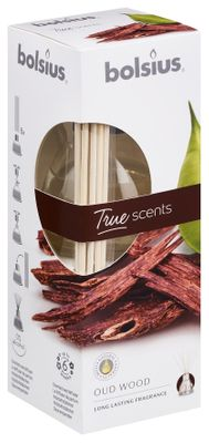 Fragrance diffuser 45ml  True Scents - Oud Wood