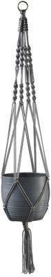Makramee Hanger 90cm Shiny Grey