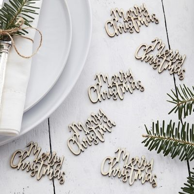 Let It Snow-Wooden Confetti - Merry Christmas