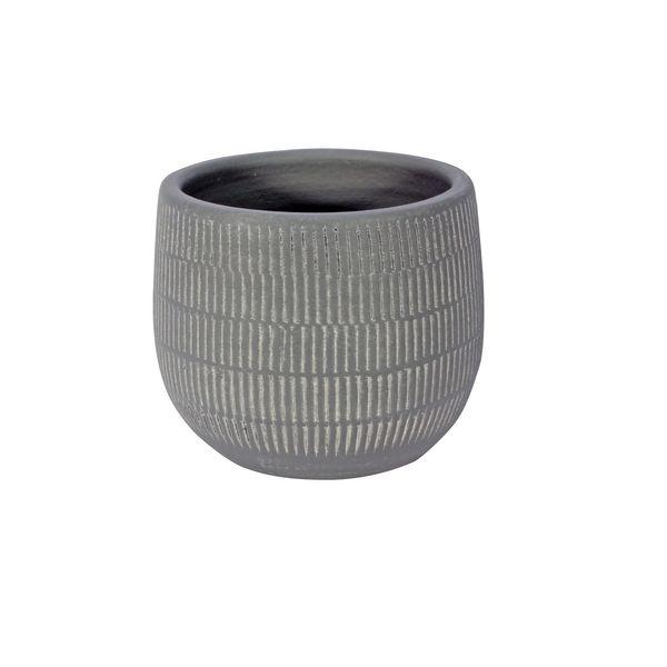 Amalfi Pot Light Grey (12cm x 10cm)