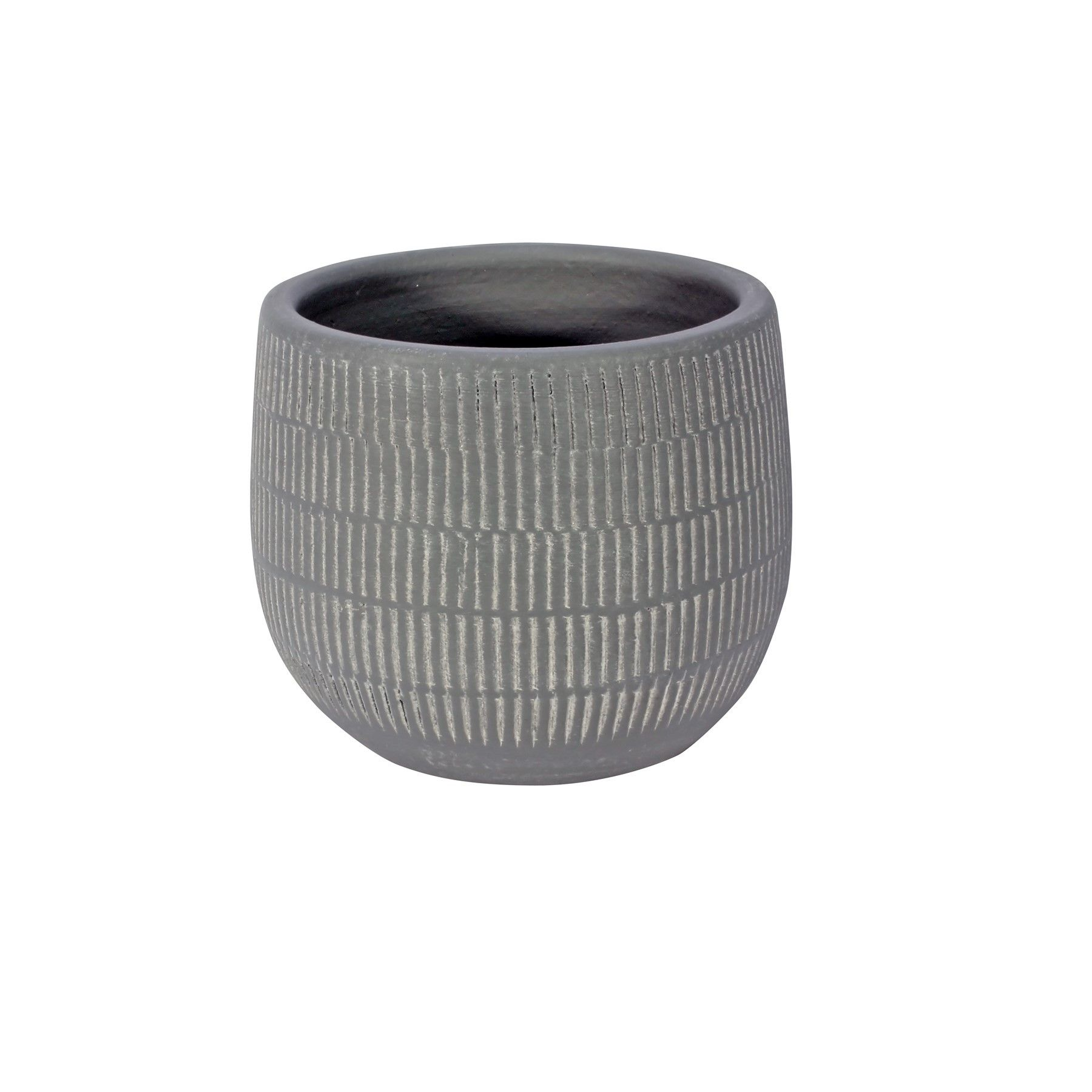 Amalfi Pot Light Grey (12cm x 10cm)