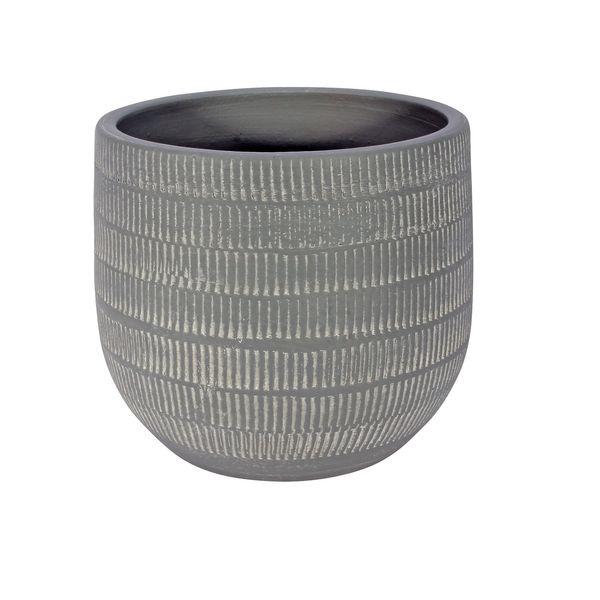 Amalfi Pot Light Grey (16cm x 14cm)