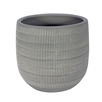 Amalfi Pot Light Grey (18cm x 16cm)