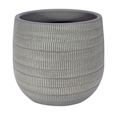 Amalfi Pot Light Grey (20cm x 18cm)