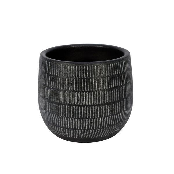 Amalfi Pot Black (14cm x 12cm)