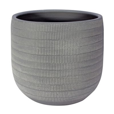 Amalfi Pot Light Grey (24cm x 22cm)