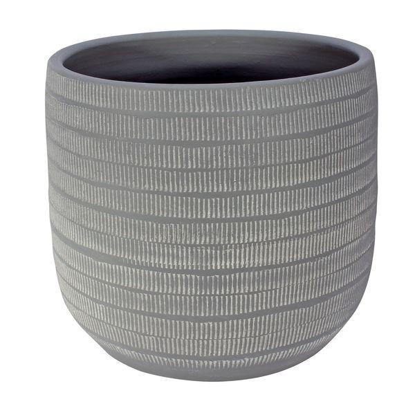 Amalfi Pot Light Grey (29cm x 26cm)