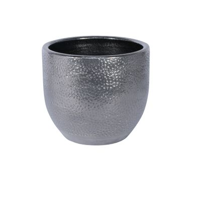 Florence Pot Silver (16cm x 14cm)