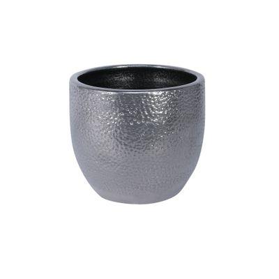 Florence Pot Silver (14cm x 12cm)