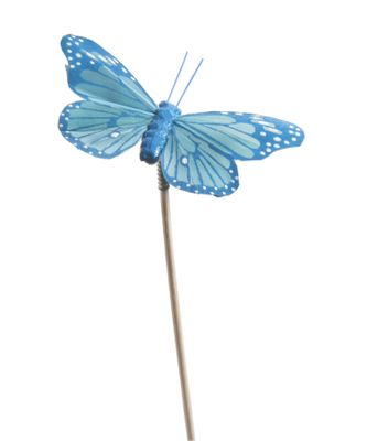 Bag of 12 Blue Butterfly on 50cm pick