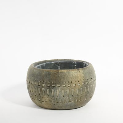 Totem Bowl Planter 16x16x9.5cm (1/12)