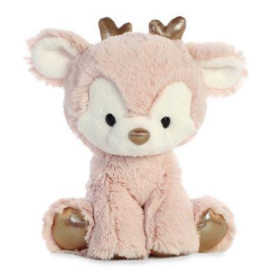 Plush Pink Reindeer 8 inch