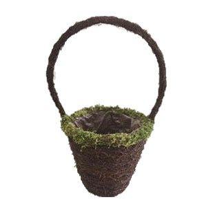 Round Salim Basket with Handle & Moss Rim