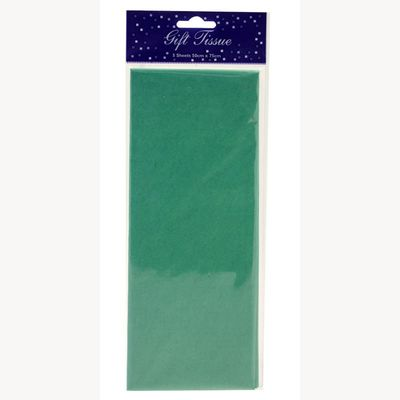 Dark Green Tissue Paper Retail Pack (5 sheets) (12)