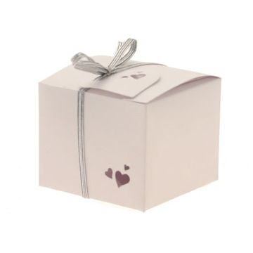 Square Pearl White Favour Boxes