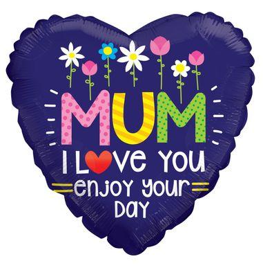 Mum I Love You Balloon (18 Inch)