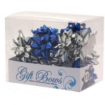 Metallic Blue / Silver Galaxy Bows