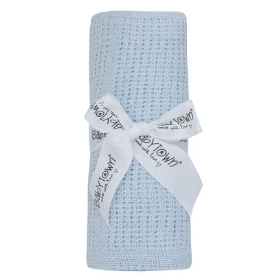 Blue Babies Cellular Blanket
