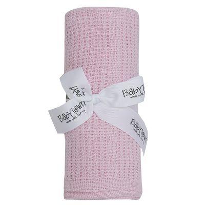 Pink Babies Cellular Blanket