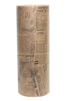 Black Newsprint on Brown Kraft Roll (50cm x 400m-10kg)