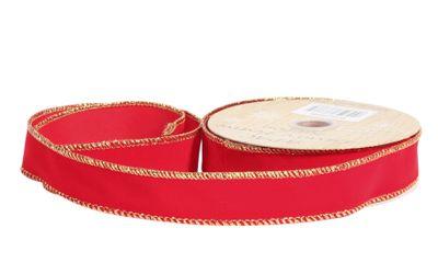 Red Velvet ribbon 25mm x 10yrds
