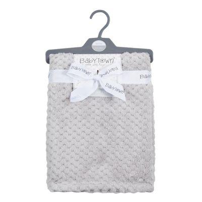 Silver Grey Waffle Blanket