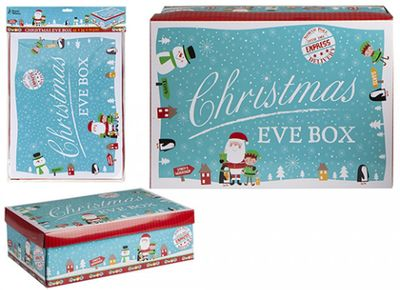 Blue Mini Character Christmas Eve Box With Header Card